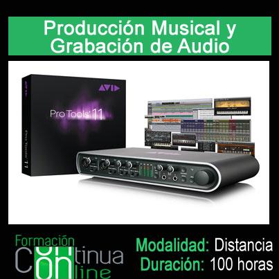 Produccion musical y grabacion de audio